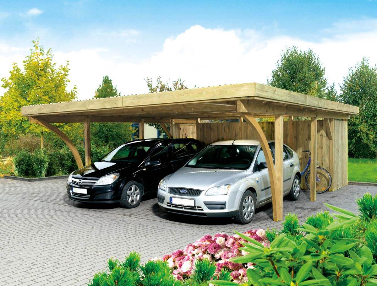 doppelcarport k ln 2 mit flachdach ca b 604xt 760 cm ohne ger teraum mr gardener zeven. Black Bedroom Furniture Sets. Home Design Ideas