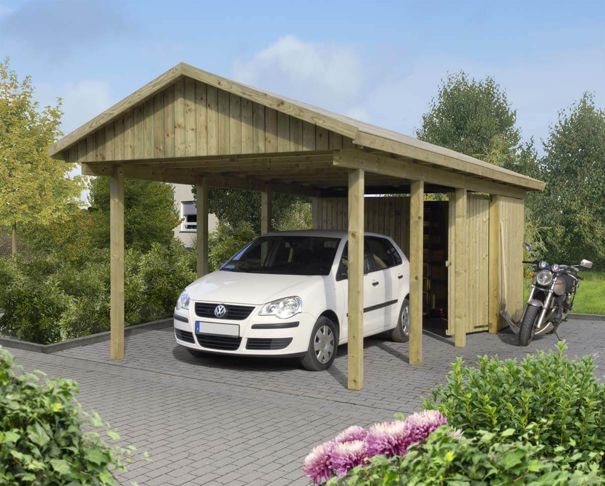 carport l beck 2 mit satteldach ca b 340xt 760 cm ohne ger teraum mr gardener zeven und. Black Bedroom Furniture Sets. Home Design Ideas