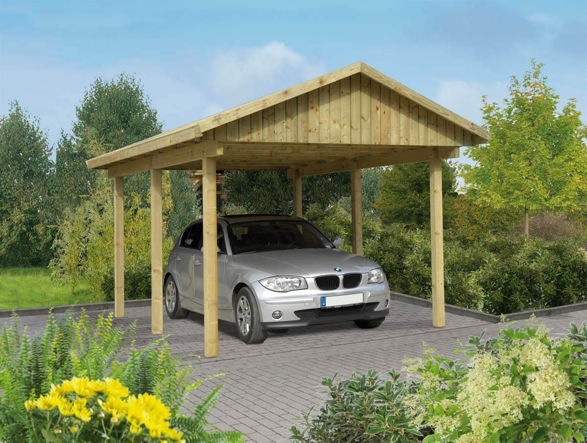 carport l beck 1 mit satteldach ca b 340xt 510 cm mr gardener zeven und bremerv rde. Black Bedroom Furniture Sets. Home Design Ideas