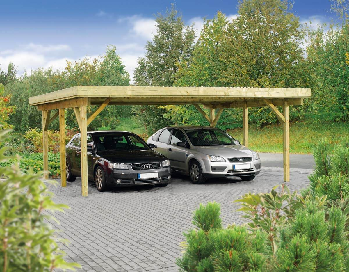 doppelcarport hamburg 1 mit flachdach ca b 604xt 510. Black Bedroom Furniture Sets. Home Design Ideas
