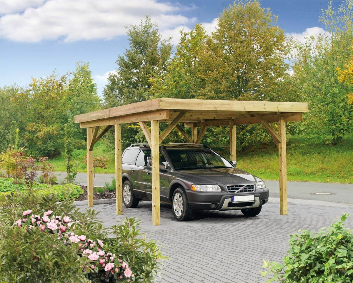 carport bremen 1 mit flachdach ca b 340xt 510 cm mr gardener zeven und bremerv rde. Black Bedroom Furniture Sets. Home Design Ideas