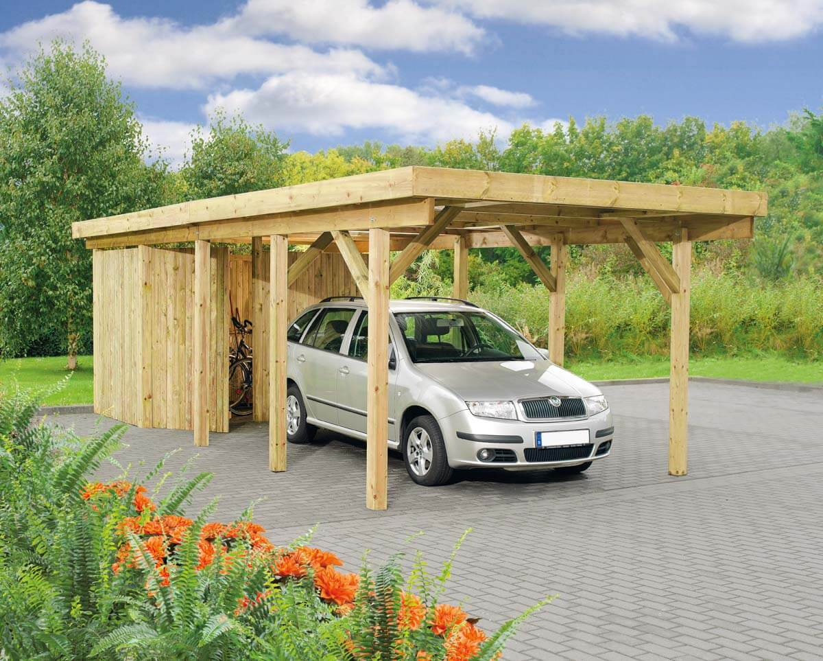 carport bremen 2 mit flachdach ca b 340xt 760 cm ohne ger teraum mr gardener zeven und. Black Bedroom Furniture Sets. Home Design Ideas
