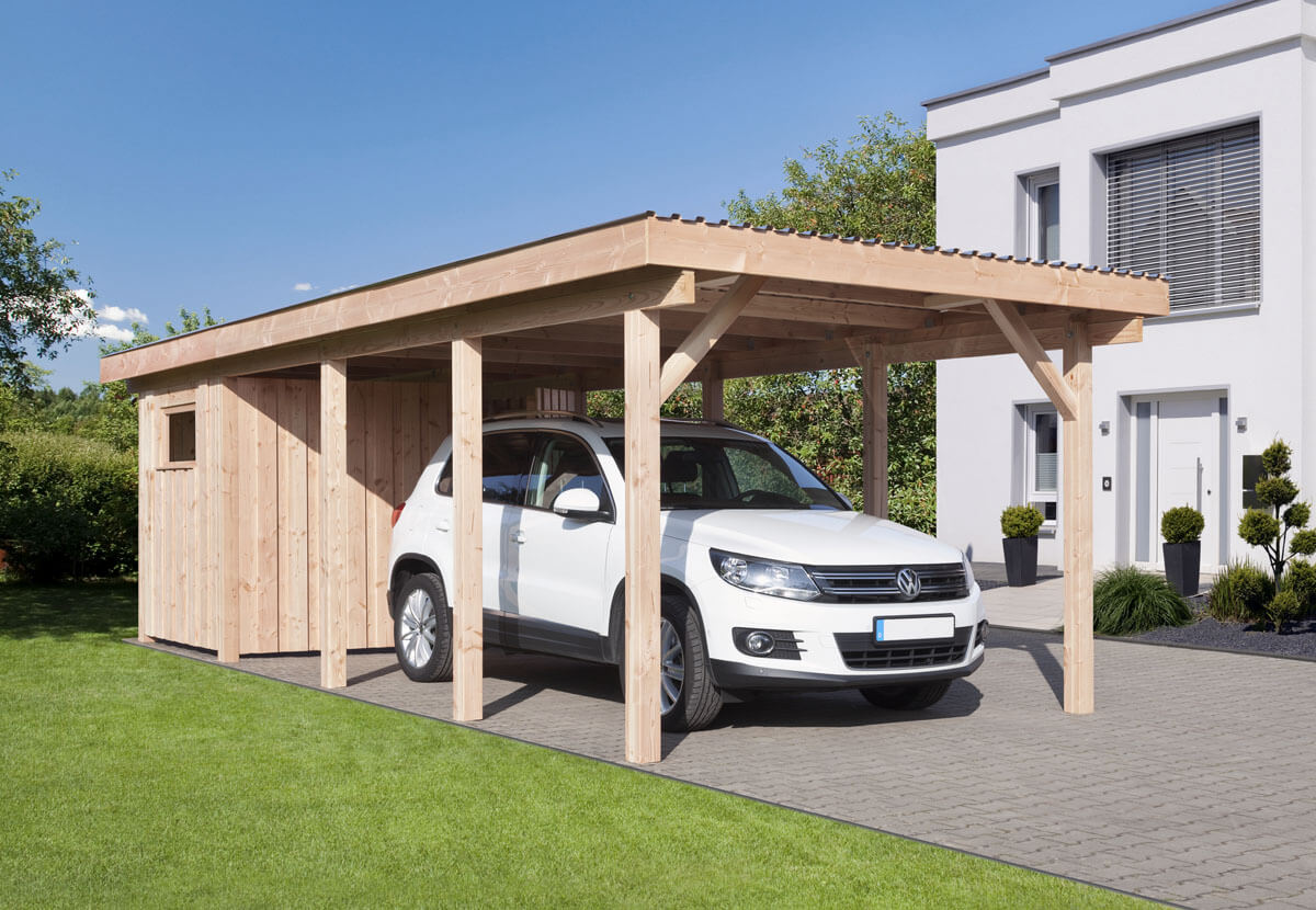 carport erding 2 mit flachdach ca b340xt760 cm mit alu. Black Bedroom Furniture Sets. Home Design Ideas