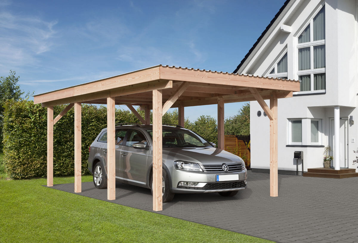 carport erding mit flachdach ca b340xt570 cm mit pvc dacheindeckung mr gardener zeven und. Black Bedroom Furniture Sets. Home Design Ideas